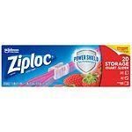 Ziploc Slider Storage Bags, Quart- 20 ea