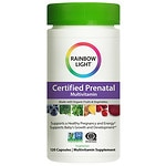 Rainbow Light Certified Organic Prenatal Multivitamin, Vegetarian Capsules