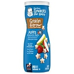 Gerber Graduates Puffs Cereal Snack, Strawberry-Apple- 1.48 oz