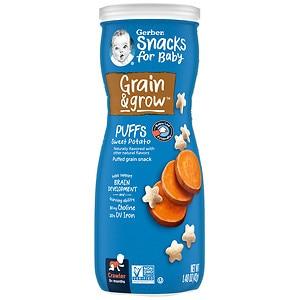 Gerber Graduates Puffs Cereal Snack, Sweet Potato- 1.48 oz