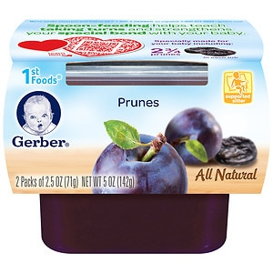 Gerber 1st Foods NatureSelect Baby Food, Prunes- 2 ea