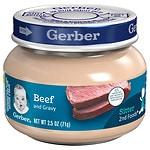 Gerber Baby Food, Beef & Beef Gravy- 2.5 oz