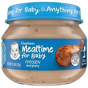 Gerber 2nd Foods Baby Food, Chicken & Chicken Gravy- 2.5 oz
