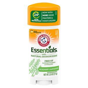 Arm & Hammer Essentials Deodorant with Natural Deodorizers, Fresh- 2.5 oz