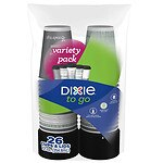 Dixie PerfecTouch Grab 'N Go Paper Cups & Lids, 12 oz (355ml)- 26 ea