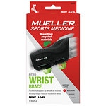 Mueller Green Fitted Wrist Brace, Maximum Support, Right, L/XL- 1 ea