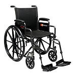 Everest & Jennings Advantage Manual Folding Wheelchair-Detach Desk Arm Swingaway Footrest