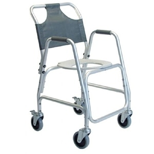 Lumex Shower Chair Aluminum With Casters-Lumex- 1 ea