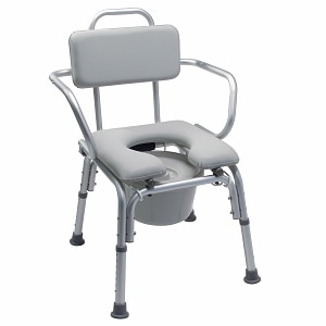 Lumex Padded Commode Bath Seat-300# Capacity-With Arms- 1 ea