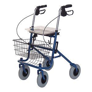 Lumex Bariatric Deluxe 4 Wheel Rollator,Blue