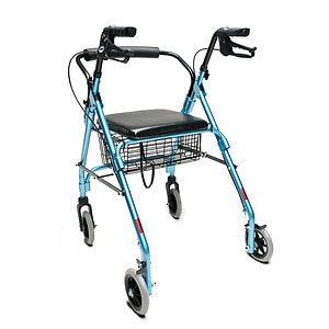 Lumex Walkabout Lite 4 Wheel Rollator, Aqua