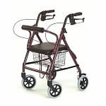 Lumex Walkabout Junior Four Wheel Rollator-Burgundy- 1 ea