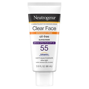 Neutrogena Clear Face Sunscreen Lotion, SPF 55