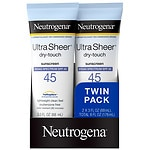 Neutrogena Ultra Sheer Dry-Touch Sunscreen, SPF 45, 2 pk- 3 oz