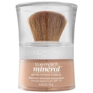 L'Oreal Paris True Match Gentle Mineral Makeup, SPF 19, Natural Buff