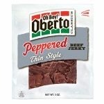 Oh Boy! Oberto Classics, Thin Style Beef Jerky, Peppered