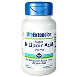 Life Extension Super R-Lipoic Acid, 240mg, Vegetarian Capsules- 60 ea