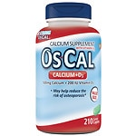 Os Cal Calcium 500mg with Vitamin D3 200 IU, Caplets- 210 ea