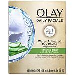 Olay 4-in-1 Daily Facial Cloths, Sensitive- 33 ea