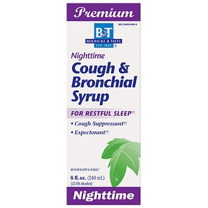 Boericke & Tafel Cough & Bronchial Syrup, Nighttime- 8 fl oz