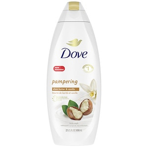 Dove Nutrium Moisture Shea Butter Cream Oil Body Wash, Warm Vanilla &amp; Brown Sugar Scent