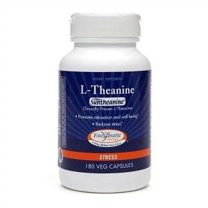 Enzymatic Therapy L-Theanine, Vegetarian Capsules- 180 ea
