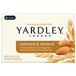Yardley of London Naturally Moisturizing Bath Bar, Oatmeal & Almond- 4 ea