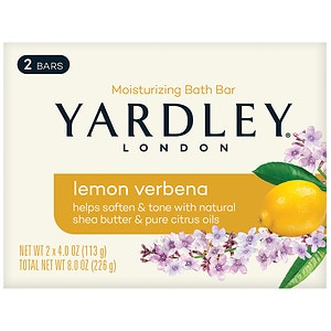 Yardley of London Naturally Moisturizing Bath Bar, Lemon Verbena with Shea Butter