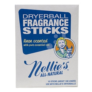 Nellie's All Natural Dryerball Fragrance Sticks, Linen- 10 ea