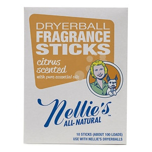 Nellie's All Natural Dryerball Fragrance Sticks, Citrus- 10 ea