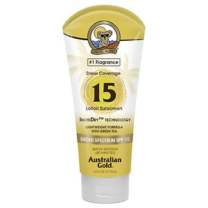Australian Gold Sheer Coverage Lotion with InvisiDry SPF 15