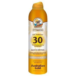 Australian Gold Continuous Spray, SPF 30, Clear- 6 fl oz