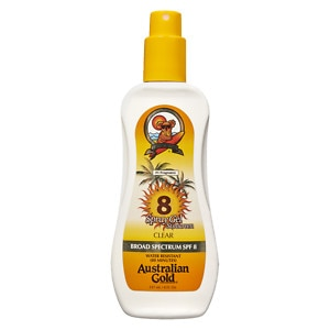 Australian Gold Clear Spray Gel, SPF 8- 8 fl oz