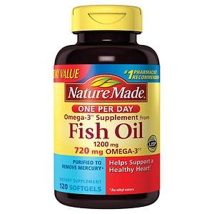 Nature Made One Per Day Fish Oil, 1200mg, Liquid Softgels, 120 ea