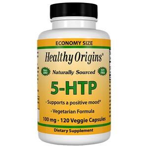 Healthy Origins 5-HTP 100 mg Capsules- 120 ea