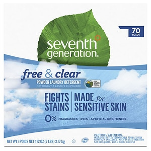 Seventh Generation Natural Laundry Detergent Powder, 70 Loads, Free & Clear