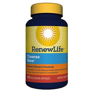 ReNew Life Cleanse More, Vegetable Capsules- 100 ea