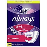 Always Xtra Protection with Odor-Lock Daily Liners, Extra Long,