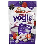 Happy Yogis Organic Yogurt Snacks for Babies & Toddlers, Mixed Berry- 1 oz