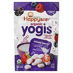 Happy Yogis Organic Yogurt Snacks for Babies & Toddlers, Mixed Berry- 1 oz