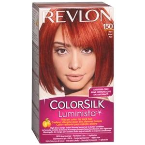 Revlon ColorSilk Luminista Vibrant Color for Dark Hair, Red 150- 1 application