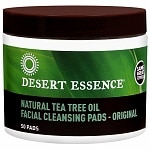 Desert Essence Tea Tree Oil Facial Cleansing Pads- 50 ea