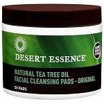 Desert Essence Tea Tree Oil Facial Cleansing Pads- 50 ea