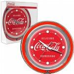 Trademark Global Coca Cola Neon Clock - Delicious Refreshing -