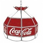 Trademark Global Coca Cola Vintage 16 Inch Stained Tiffany Lamp- 1 ea