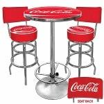 Trademark Global Ultimate Coca-Cola Gameroom Combo - 2 Stools