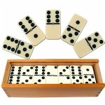 Trademark Games Premium Set of 28 Double Six Dominoes w/ Wood
