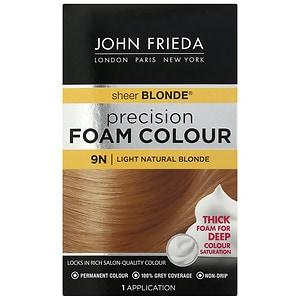 John Frieda Permanent Precision Foam Colour, 9N Sheer Blonde Light Natural Blonde