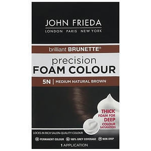 John Frieda Precision Foam Color Precision Foam Colour, 5N Brilliant Brunette Medium Natural Brown, 1 ea
