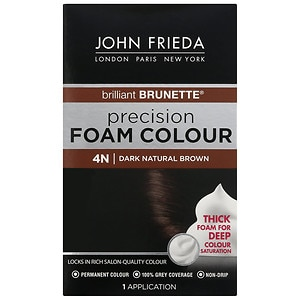 John Frieda Permanent Precision Foam Colour, 4N Brilliant Brunette Dark Natural Brown
